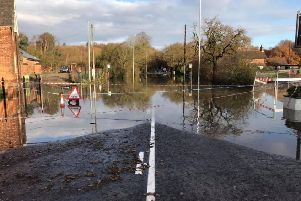 This flooding scene at Holton le Moor was shared on Twitter by Gainsborough Fire Station. EMN-190312-102714001