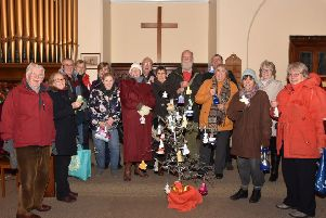 Knitters and supporters. Photo by John Edwards