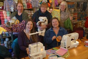 Gail belinda Lee, seated left, with some of the kind-hearted crafters EMN-200113-070534001