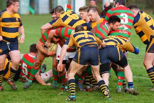 Rasen drive to their opening try in their narrow win over Loughborough. Picture: Jon Staves EMN-200302-122634002