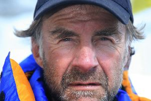 Sir Ranulph Fiennes at Everest Basecamp, Nepal, during his Everest 2008 summit attempt. EMN-200215-130525001