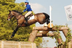 Emilie and Coopers Law completed a Badminton test made even tougher by a relentlessly wet spring PICTURE: Peter Morris EMN-180823-163654002