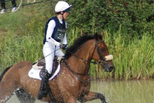 Willa and Chance Remark jumped clear in Burghley's teak tough cross country test EMN-180509-124753002
