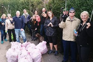 Volunteers who turned for a Melton Matters litter pick in the Leicester Road area of the town in October EMN-180911-122236001