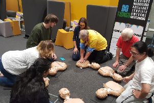 A CPR training demonstration underway PHOTO: Supplied