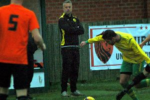 Holwell Sports manager Neil Miller looks on as his side slip to a fourth straight defeat EMN-180412-093515002