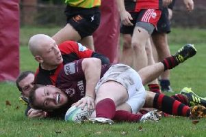 Melton RFC Third XV came up agonisingly short in their bid to end Shepshed's unbeaten record EMN-180412-173828002