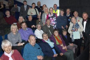 Senior citizens with compere Mark Frisby (far right) PHOTO: Supplied