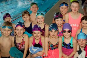 Teams from St Francis Catholic Primary School are all set to swim PHOTO: Tim Williams