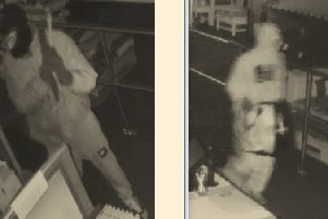 Do you recognise these two men? They were captured on CCTV during a break-in at Melton's QD Stores last month EMN-190102-111555001