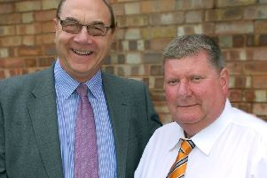 Ian Wakefield handed over the role of Asfordby Amateurs JYFC chairman to Barrie Pierpoint EMN-190602-103612002