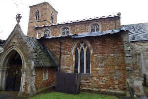 The covered roof of Thorpe Arnold Church after thieves stole lead from it twice in a matter of days EMN-191202-103156001