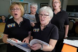 Rutland Rejuvenated Singers singing during their concert at The Amwell PHOTO: John Robertson