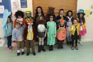 Pupils at Frisby Primary School dressed as their favourite book characters PHOTO: Supplied