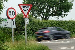 The B676 Saxby Road near Melton, where trial speed cameras were installed to combat speeding motorists EMN-190318-130547001