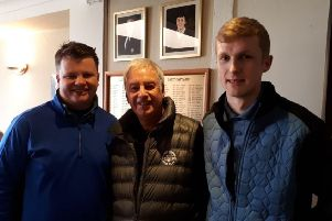 Autumn Trophy round five winners, from left, Dave Poolan, Haydn Snow and Jamie Orton EMN-190319-122312002