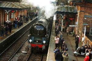 The Nigel Dobbing memorial steam train arrives at Melton station'PHOTO TIM WILLIAMS EMN-190319-153512001