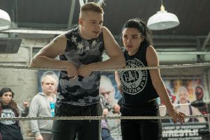 Jack Lowden as Zak Knight and Florence Pugh as Paige Knight PHOTO: PA Photo/Metro-Goldwyn-Mayer Pictures Inc./Robert Viglasky