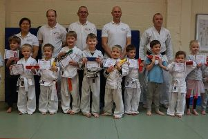 Tiger Cubs grading for Melton Jujitsu's youngest students EMN-190404-150140002