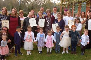 Heroes of the Melton borough with their Mayor's Awards certificates PHOTO: Tim Williams