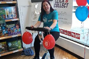 Argos worker Danielle Popple in the saddle PHOTO: Supplied