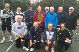 Hamilton Tennis Club with Oakham before their pre-season friendly EMN-190416-192447002