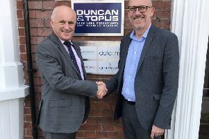 Ian Phillips of Duncan & Toplis and David Pearson of the East Midlands Chamber of Commerce.