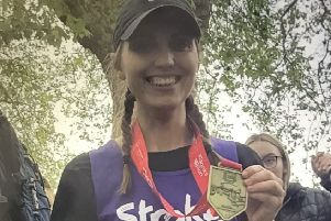 Sophie Billington raised �1,400 for Stroke Association PHOTO: Supplied