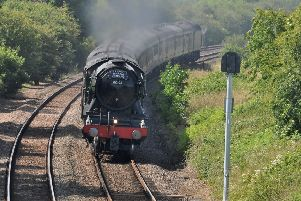 The Flying Scotsman heads away from Langham'PHOTO PAUL DAVIES EMN-190207-134654001