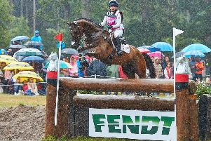 Heidi and Rory defied awful conditions to sweep to an impressive cross country clear round. Picture: EventingPhoto EMN-190724-110703002