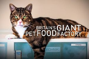 Britain's Giant Pet Food Factory, based at the Mars Petcare UK plants at Melton and Waltham, is to be screened on Channel 4 on Thursday August 1 at 9pm EMN-190729-115130001