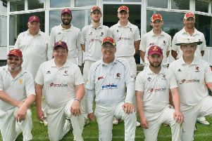 A run of six straight wins has carried Park Seconds to promotion. A seventh would wrap up the title. From left, back - Neil Ellis, Susudo Akaravitage, Michael Dover-Jaques, Anthony Pedlar, Harry Wells, Richard Harris; front - Chris Jeary, Stephen Hoskisson, Greg Tyler, Jacob Bates, Jack Anderson. EMN-191009-091523002
