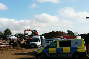 The scene yesterday on the site of Melton's former Catherine Dalley nursing home before police removed the forensic investigation tent EMN-191023-115835001