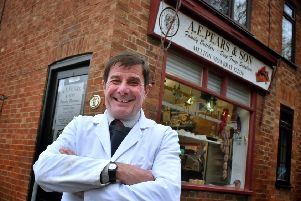 Mick Pears at his family butcher's shop at Long Clawson which is to close after 110 years EMN-191220-171454001