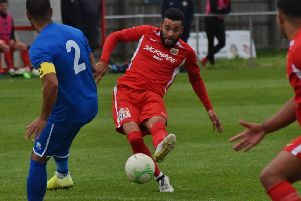Nathan Arnold broke the deadlock for Town early in the second half for his sixth goal of the campaign EMN-200801-102137002
