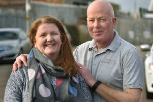 John Swayne, a Melton man who has been treated for prostate cancer, with wife Julie EMN-200901-172419001