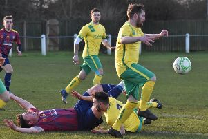 David Halzeldine put Holwell ahad in spectacular fashion with his second goal of the season EMN-200120-090225002