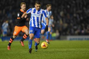 Albion winger Anthony Knockaert. Picture by Phil Westlake (PW Sporting Photography)