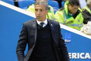 Brighton & Hove Albion boss Chris Hughton. Picture by Phil Westlake