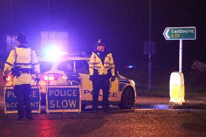 A teenage girl has died in a lorry collision on the A22. Picture: Eddie Mitchell