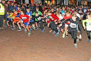 One of the primary schoolboys' race gets under way / Picture by Derek Martin