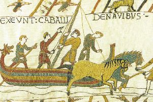 A section of the Bayeux Tapestry