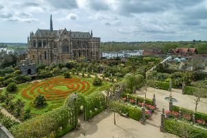 An aerial shot of the gardens. Picture by  Visual Air