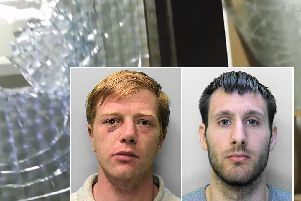Ross Macpherson, 28, currently a serving prisoner, (right in photo) and Steven Goodwin, 28, of Fairlight Road, Hastings (left in photo). Picture: Sussex Police
