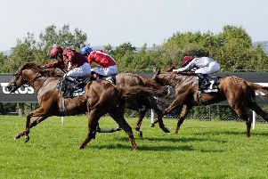 Lightning Spear wins at Goodwood last year / Picture by Malcolm Wells