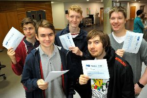 Midhurst Rother College A level results. Pic Steve Robards SR1821300
