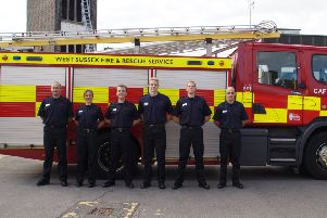 The newest recruits for West Sussex Fire & Rescue Service at the Pass Out Parade at Worthing Station SUS-181010-112516001