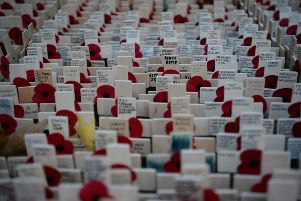 The Field of Remembrance at Westminster Abbey, which has been organised by the Poppy Factory and held in the grounds of Westminster Abbey since November 1928, ahead of The Duke of Sussex visit today. PRESS ASSOCIATION Photo. Picture date: Thursday November 8, 2018. See PA story MEMORIAL Armistice. Photo credit should read: Kirsty O'Connor/PA Wire