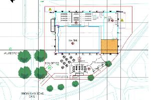 Layout for proposed ice rink in Chichester's Priory Park