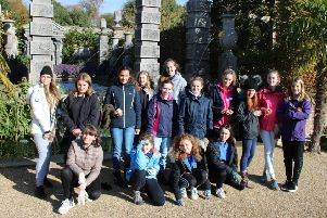 Girl Guides spent a day planting tulip bulbs at Arundel Castle